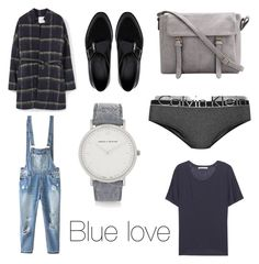"""""""Blue love"""" by fridasaaa on Polyvore featuring MANGO, Larsson & Jennings, ASOS, Calvin Klein Underwear, Relaxfeel, Acne Studios, women's clothing, women's fashion, women and female"""