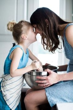 A lovely intimate moment of mom and daughter cooking together in the home kitchen. Mother Daughter Photos, Mother Daughter Photography, Mom Daughter, Mother And Child, Cooking Photography, Lifestyle Photography, Children Photography, Family Photography, Family Portraits