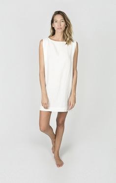 + Bust and Hip, true to size + 100% washed, pre-shrunk linen + Made in NYC