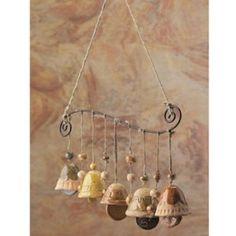 Ceramic Bells Mobile Wind Chime