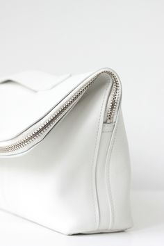 White fold over bag.