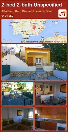 2-bed 2-bath Unspecified in Attached, Golf, Ciudad Quesada, Spain ►€124,950 #PropertyForSaleInSpain