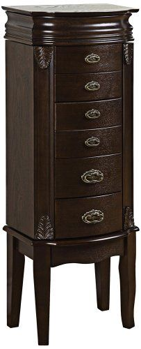 Murphy Jewelry Armoire With Mirror Finish Cream 2015 Amazon Top