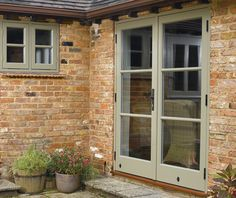 French Doors - this is paint colour and hardware want to go for
