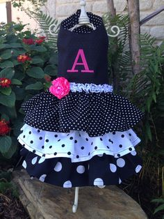 Custom monogrammed dog dress halter style by Rufflesforcharli, $32.00