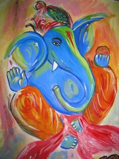 Ganesh - Painting by samana friend in my paintings at touchtalent
