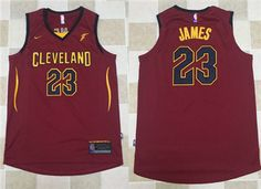 49c42a086 Nike NBA Cleveland Cavaliers  23 LeBron James Jersey 2017 18 New Season  Wine Red Jersey