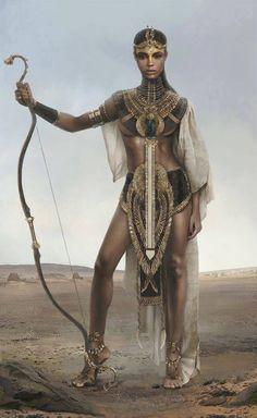 Nubian Warrior Queen - Black is Beautiful has always been! Warrior Princess, Warrior Queen, Woman Warrior, Goddess Warrior, African American Art, African Art, Native American Indians, Black Women Art, Black Art