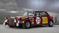 The Red Pig, AMG's famed 300 SEL 6.8 race car - 1971