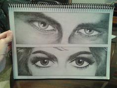 Ojos III (grafito) por nadia