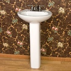 Barclay 3 201WH Hampshire 450 Pedestal Lavatory In White