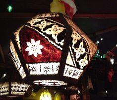 Tiki lamp from inside Trader Sam's Enchanted Tiki Bar at Disneyland.
