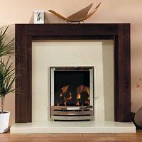 Dark brown Dakota style fire surround, mango wood. Available for ...