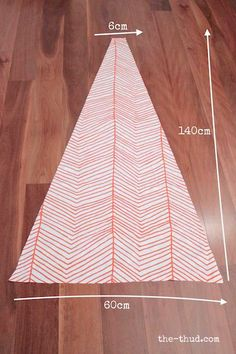 DIY Kids teepee - cut triangles for teepee panels