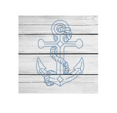 White Distressed Wood Anchor Sign