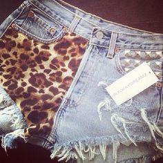 Cute Studded highwaisted shorts