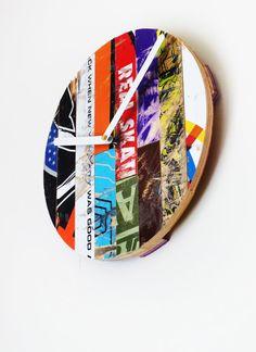 Basic Skate Clock 10 Dia. by Deckstool. Made from by deckstool