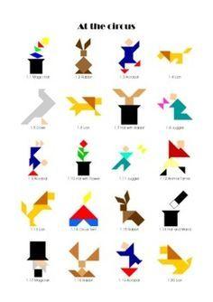 Afbeeldingsresultaat voor puzzles geometrique cirque