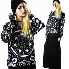 Women/Men Space Galaxy Hoody Sweaters Sweatshirt Tops T-Shirt Blouse pullover ML
