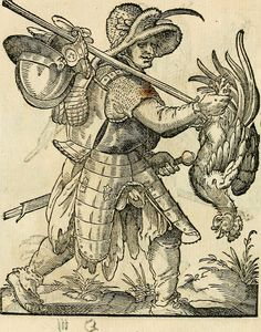 Pillaging soldier, German woodcut by Jost Amman, c. 1520