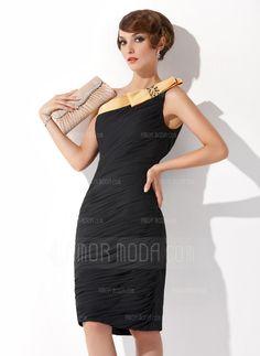 Cocktail+Dresses+-+$147.99+-+Sheath/Column+One-Shoulder+Knee-Length+Chiffon+Cocktail+Dress+With+Ruffle+Sash+Beading+Bow(s)+(016008557)+http://amormoda.com/Sheath-Column-One-shoulder-Knee-length-Chiffon-Cocktail-Dress-With-Ruffle-Sash-Beading-Bow-S-016008557-g8557