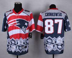 New England Patriots #87 Rob Gronkowski 2015 Noble Fashion Elite Jersey