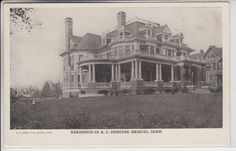 Bristol Connecticut CT Postcard 1901-1907 Residence of A.L. Sessions