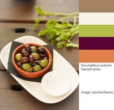 This mouthwatering photo was taken by Celia of Sencha Diaries. It makes a lovely autumn harvest color palette.