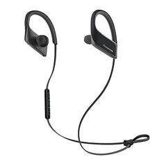vizio tv headphones. panasonic wings wireless bluetooth in ear earbuds sport headphones with mic + controller rp-bts30-k (jet black), ipx4 water resistant vizio tv
