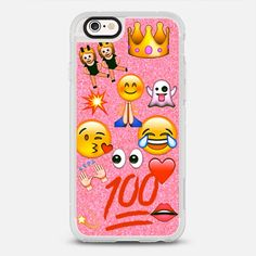 Emoji Love - protective iPhone 6 phone case in Clear and Clear by Cotten Candy Kiss | What's your favourite emoji? Click in and pick one! >>> https://www.casetify.com/collections/iphone-6s-emoji-cases#/?device=iphone-6s | @Casetify