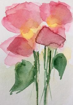 Summer Pink Flowers Art Print by Britta Zehm #watercolorarts