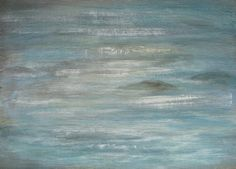 Light On Water Sparkle Blue Painting Abstract by PuzzledbyArtmondo