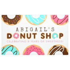 Donut Shop Birthday Party Banner