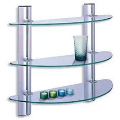 Heritage Holborn Double Glass Shelf Chrome Ahodgsc Bathroom