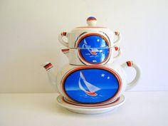 Vintage Japanese nautical tea set from Rolling Hills Vintage, $35.00.