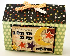 The cutest treat boxes, made from one piece of 12x12 scrapbook paper!