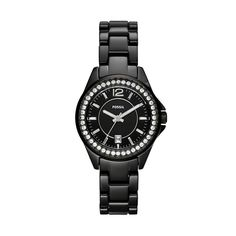 FOSSIL® Watch Styles Ceramic Watches:Watch Styles Riley Mini Ceramic Watch - Black CE1054