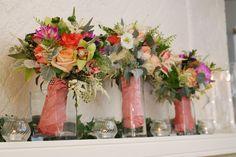 Bridesmaid Bouquets | Bridal Bouquet | Custom Floral Design | Summer Wedding | Boston Wedding Florist | Stapleton Floral Design