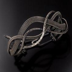 Woven Wave Bracelet Fine Silver Bracelet by sarahndippity on Etsy