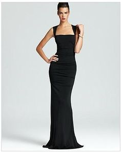Nicole Miller Sleeveless Stretch Gown