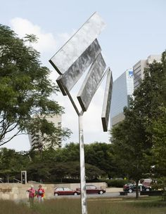 George Ricky, Four Rectangles Oblique, City Garden, St. Michelangelo, 3d Design, Metal Art, Garden Art, St Louis, Mobiles, Wind Turbine, Oasis, Serenity
