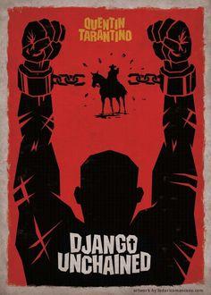 Django Unchained Alternative Movie Poster by Federico Mancosu