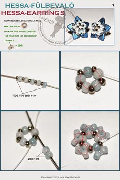 Ewa gyöngyös világa!: Hessa fülbevaló minta / Hessa earrings pattern