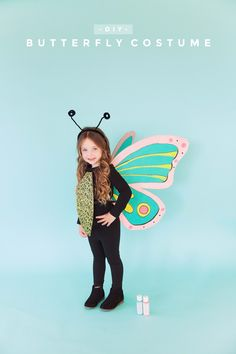 Get crafty this Halloween with this fun and colorful DIY butterfly costume. I love using and paints and stencils for my projects and this is no exception.