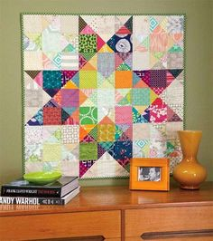 This is an image I found on Pinterest and pinned to my Quilts to Piece board. It's from Splendorfalls.I finally decided to get out my bin of charm squares and start sewing. At this point it is only