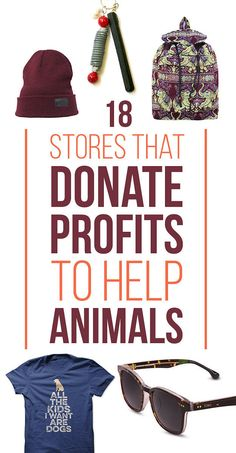 18 Wonderful Stores That Donate Profits To Help Animals Wear something that means something!