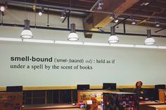 Smell bound in Powell's Books- Portland OR -
