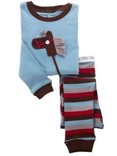 "MIDA Boys ""Stick Horse"" Crochet Applique Pyjama Set:-)"