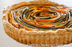Spiral Vegetable Tart from Cath's Cookery Creations! | www.cathscookerycreations.com
