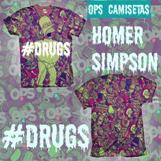 Homer (Os Simpson) - #Drugs - Séries - Camisetas